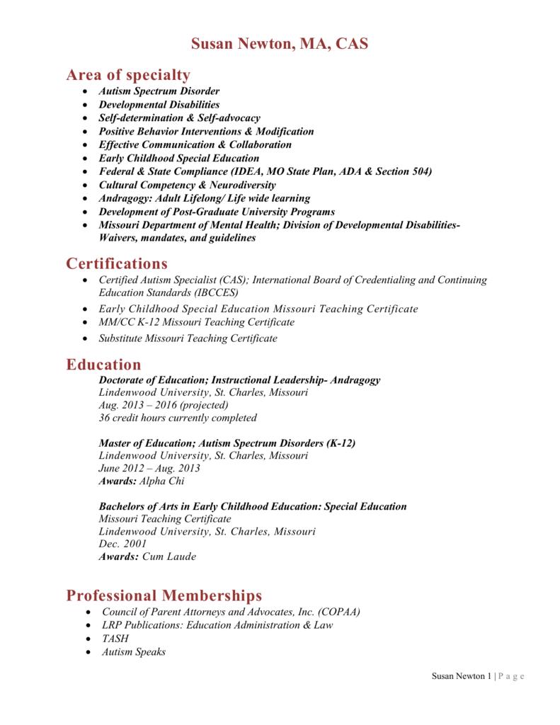 Certifications Consultants For Children
