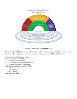 21st Century Skills Overview with Student Outcomes