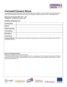 Exhibitors Booking Form