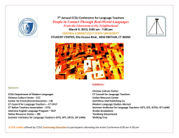 to view the preliminary program - Department of Modern Languages