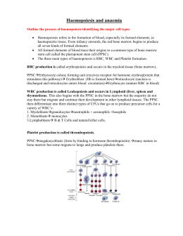 Haemopoiesis and anaemia - PBL-J-2015