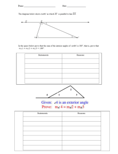 Triangle Sum Theorems