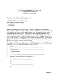 SCHOLARSHIP APPLICATION - Alaska State Employees Association