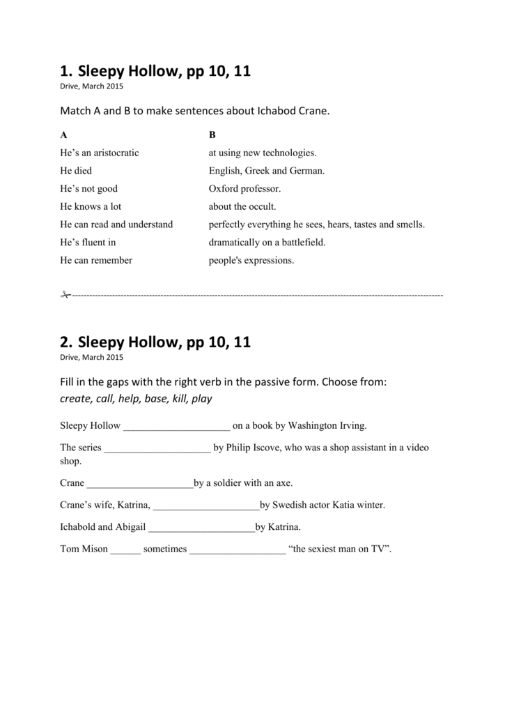 Sleepy Hollow, pp 10, 11