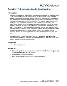 Activity 1.1.2 Introduction To Engineering