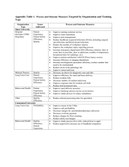 Appendix Table 1. Process and Outcome Measures Targeted by