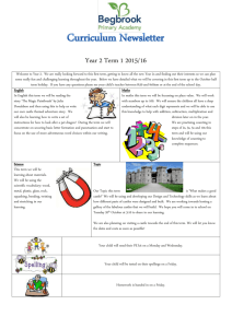 Curriculum newsletter Year 2 term 1
