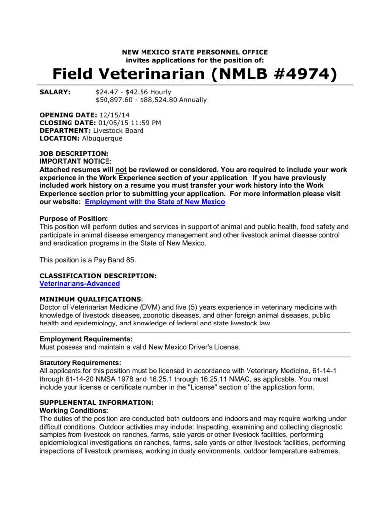 Field Veterinarian (NMLB #4974) - United States Animal Health