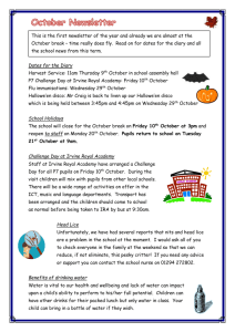 October Newsletter - Loudoun Montgomery Primary School