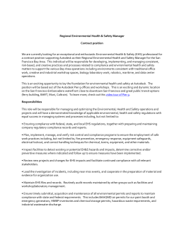 Regional EHS Manager (11/24/15)