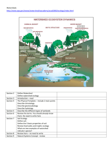 Watershed Activity