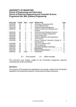 MSc Software Engineering (, 26KB)