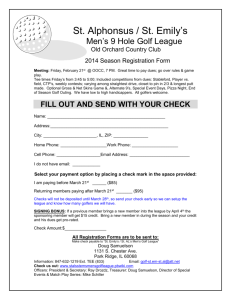 2014 Season Registration Form - St. Em`s / St. Al`s Mens Golf