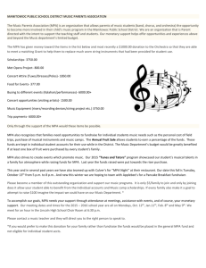 Music Parents Info/Membership Letter