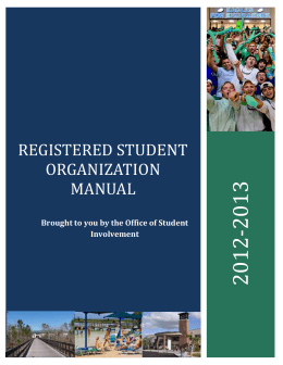 Registered Student Organizations - Vice President of Student Affairs