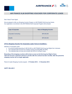 air france klm shopping voucher for corporate leads