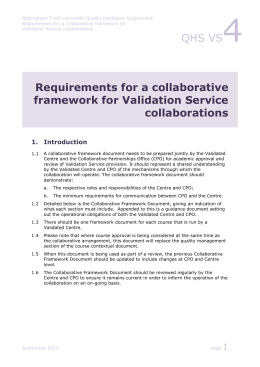 Validation Service collaborations