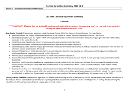 Section by Section Summary 2013 HB 1