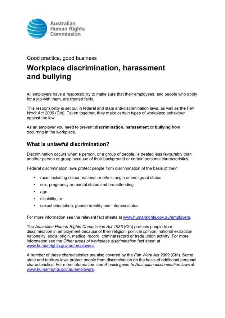 Sexual harassment act australia immigration