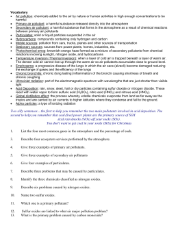pollution apes study guide Ap environmental science search this site  chapter 13 study guide  water pollution and wastewater treatment pre-lab questions.