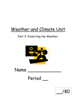 Weather and Climate Unit - Brandywine School District
