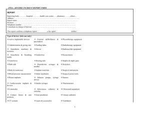 JFDA- ADVERSE INCIDENT REPORT FORM
