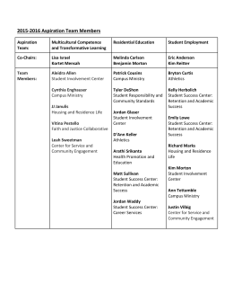 Student Development Committees 2014
