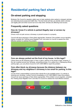 Residential parking fact sheet