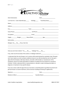 Client Intake Form - Healthy Living Studios