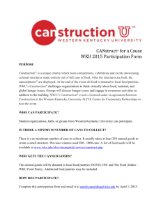 CANstruct® for a Cause WKU 2015 Participation Form PURPOSE