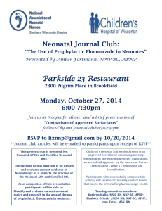 Neonatal Journal Club