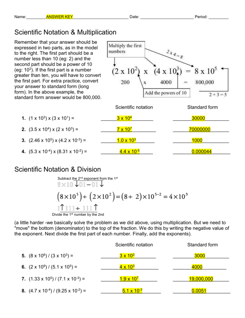 16++ Best of scientific notation worksheet adding and subtraction Useful