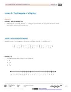 Lesson 4: The Opposite of a Number