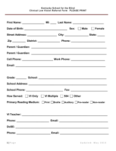 Clinical Low Vision Referral Form