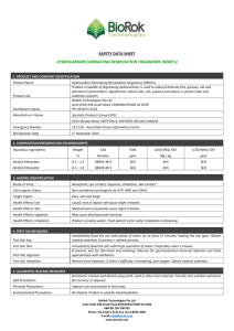 Safety Data Sheet - BioRok Technologies