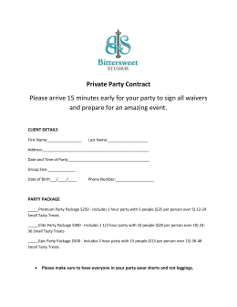Private Party Contract