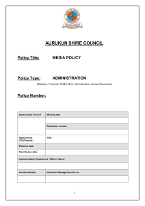 Media Policy - Aurukun Shire Council