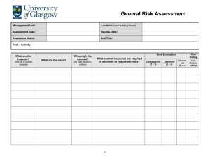 Generic Risk Assessment