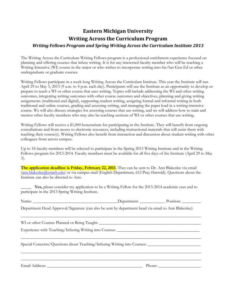 Applications - Eastern Michigan University