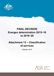 Final decision Energex distribution determination
