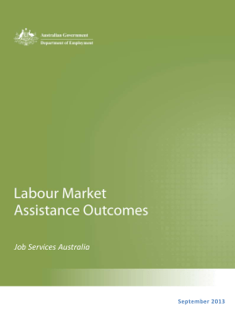 Table 1.1 – JSA Labour Market Outcomes, September 2013