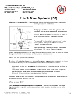 What is the treatment for Irritable Bowel Syndrome (IBS)?