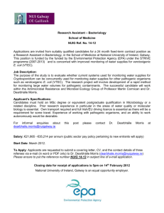 Research Assistant – Bacteriology School of Medicine NUIG Ref. No