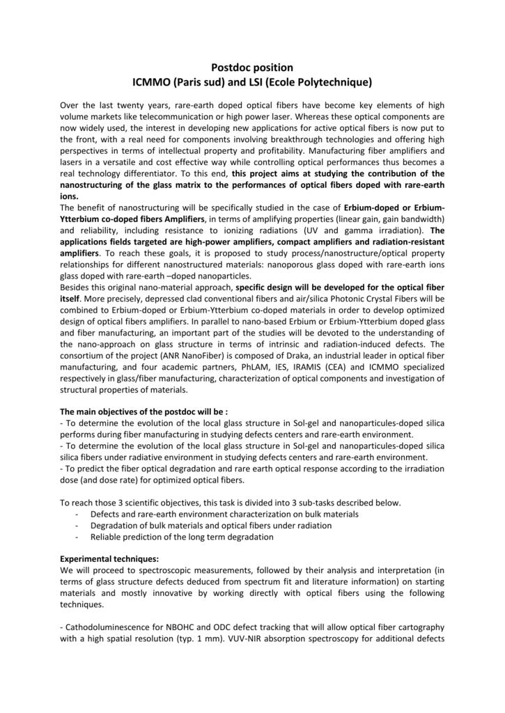 Postdoc position ICMMO (Paris sud) and LSI (Ecole Polytechnique)
