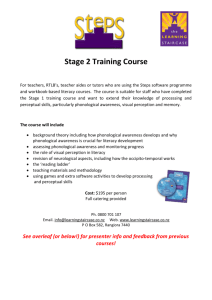 Stage 2 Training Course - The Learning Staircase