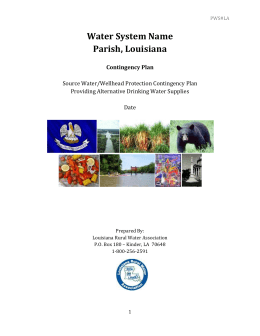 MS Word Doc - Louisiana Rural Water Association