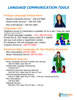 Microsoft Word - Language Interpreters.doc