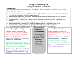YSP Grade 3 Curriculum Overview