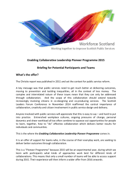 Enabling Collaborative Leadership Offer 2015