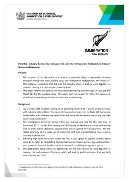 Memo template - Immigration New Zealand